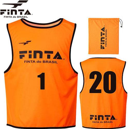 フィンタ FINTA ジュニア サッカー ビブス 20枚セット オレンジ フリーサイズ FT6557