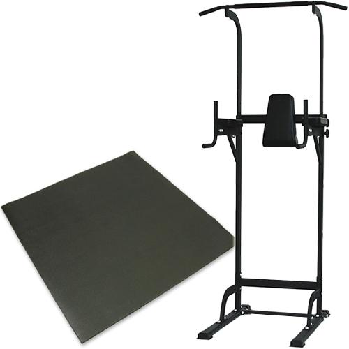 リーディングエッジ ホームジム ST 保護マットセット 懸垂器具 腹筋 腕立て運動可能 ぶら下がり健康器 マルチジム LE-VKR02