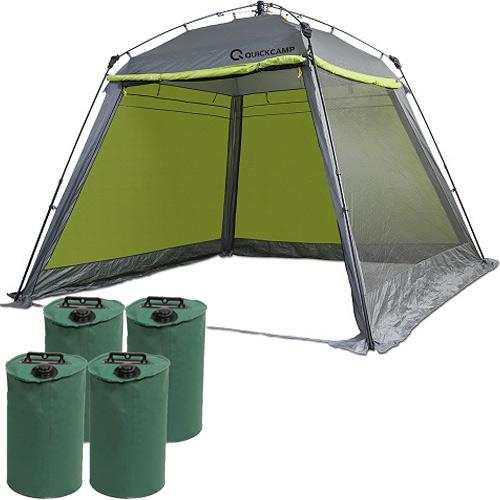 クイックキャンプ QUICKCAMP スクリーンタープ 3m ウエイトセット グリーン QC-ST300 フルクローズ 大型 スクリーンシェード アウトドア ワンタッチタープ タープテント