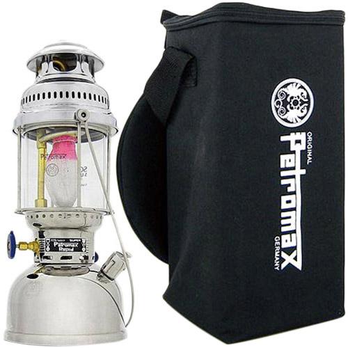 ペトロマックス Petromax ランタン セット HK500 ニッケル 02150 & HK500用アクセサリー トランスポートバッグ 12216