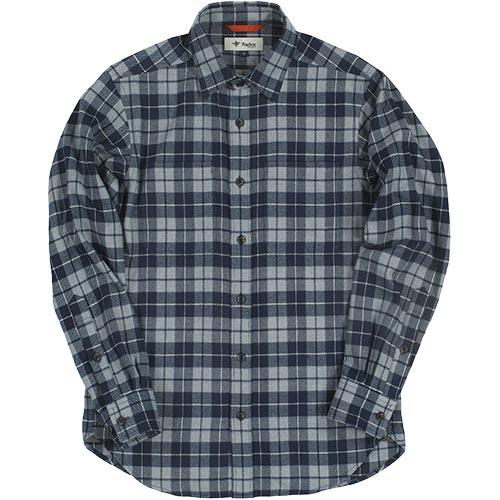 フォックスファイヤー Foxfire メンズ TSウォームチェックシャツ TS Warm Check Shirt ネイビー 5112839 046