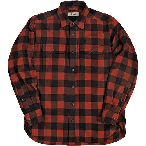 フォックスファイヤー Foxfire メンズ TSバッファローチェックシャツ TS Buffalo Check Shirt レッド 5112854 080