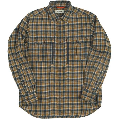 フォックスファイヤー Foxfire メンズ TSモザイクチェックシャツ TS Mosaic Check Shirt ブラウン 5112856 076