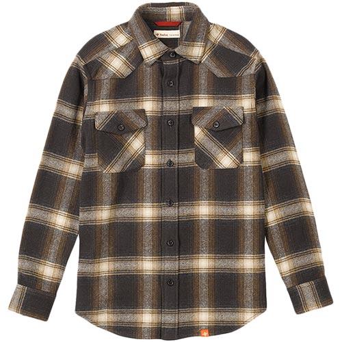 フォックスファイヤー Foxfire WWオンブレチェックシャツL/S 154/ブラウンチェック 5112735 メンズ
