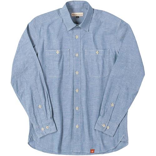 フォックスファイヤー Foxfire TSベーシスシャンブレーシャツ メンズ 040/ブルー 5212851