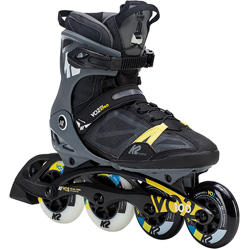ケーツー K2 メンズ インラインスケート VO2 100 X PRO ブラック×グレー×イエロー I180201701