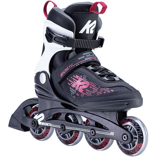 スーパーセール期間限定 ローラースケート 大人用 ケーツー 18%OFF K2 レディース インラインスケート ベリー ブラック 80 KINETIC キネティック I200200601