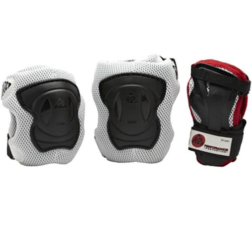 公式 プロテクター 保護 膝あて 肘あて 手首ガード ローラースケート 25日限定 会員別ポイントUP ケーツー 現品 インラインスケート レッド パフォーマンス パッドセット K2 メンズ ブラック シルバー I140401201