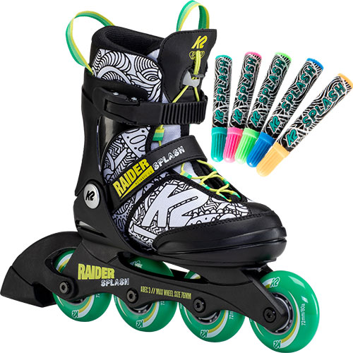 子供 ローラースケート 正規認証品!新規格 誕生日 ケーツー K2 ジュニア 本物 RAIDER インラインスケート I21020010 SPLASH レイダースプラッシュ キッズ