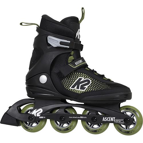 ローラースケート 大人用 ケーツー K2 メンズ インラインスケート アセント80 ヨーロッパモデル I210203301 ASCENT ブラック グリーン 80 公式通販 手数料無料