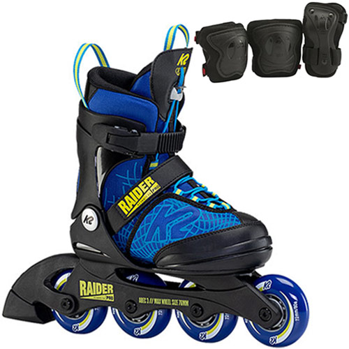 プロテクター付き 送料無料でお届けします 子供 ローラースケート 誕生日 ケーツー K2 ジュニア インラインスケート レイダー PRO I21020210 イエロー プロ RAIDER I130400101 日本産 ブルー キッズ