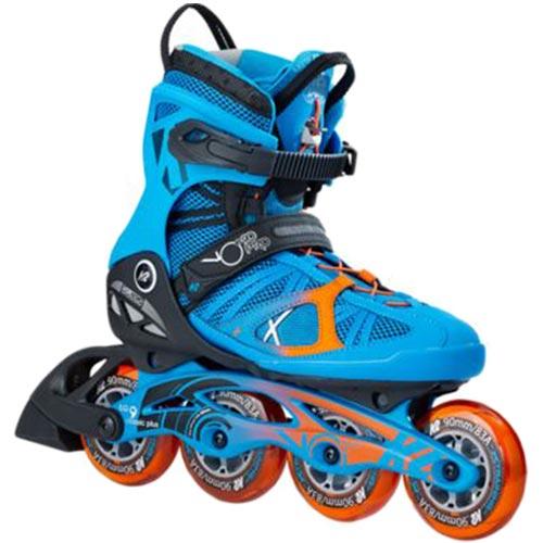 ケーツー K2 メンズ インラインスケート VO2 90 PRO ブイオーツ― 90 ボア プロ ブルー/オレンジ I170201701