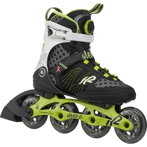 ケーツー K2 ALEXIS BOA レディース インラインスケート ライム/ブラック I150201501
