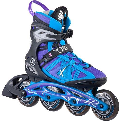 ケーツー K2 VO2 90 PRO W レディース インラインスケート ブラック/ブルー/パープル I160200801