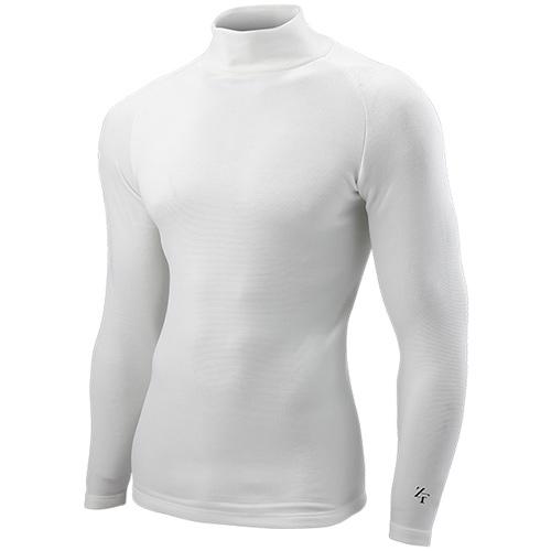 ゼロフィット ZEROFIT アンダーシャツ 裏起毛 防寒 長袖 ヒートラブ ライト モックネック ホワイト EZHLUMC