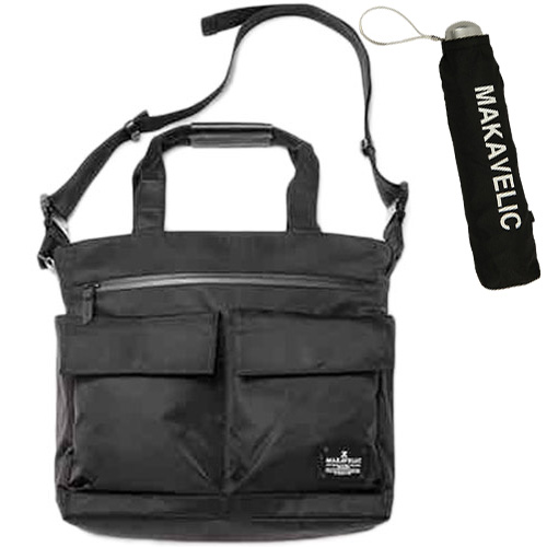 マキャベリック MAKAVELIC シエラ ダブルフラップ 2ウェイ トートバッグ SIERRA DOUBLE FLAP 2WAY TOTE BAG ブラック 312010201/MV-UNB