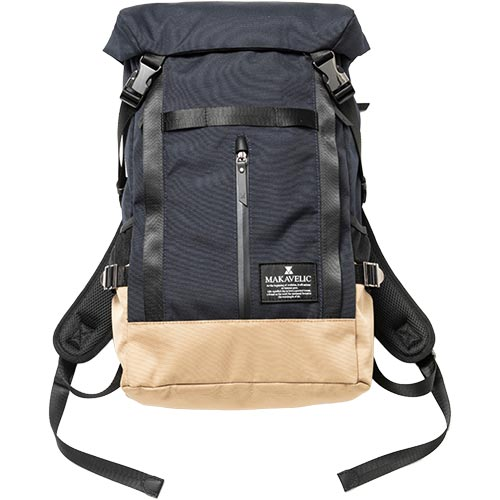 LINE2 BACKPACK エントリーでポイント+9】マキャベリック MAKAVELIC ダークネイビー/ベージュ DOUBLE 3120-10126 【11/24(火)01:59迄 バックパック CHASE