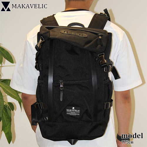 マキャベリック MAKAVELIC リュック CHASE DOUBLE LINE BACKPACK ダブルライン バックパック BLACK 3106-10107