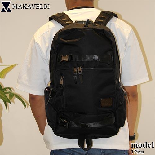マキャベリック MAKAVELIC メンズ レディース バックパック ブラック SUPERIORITY BIND UP BACKPACK 3106-10105