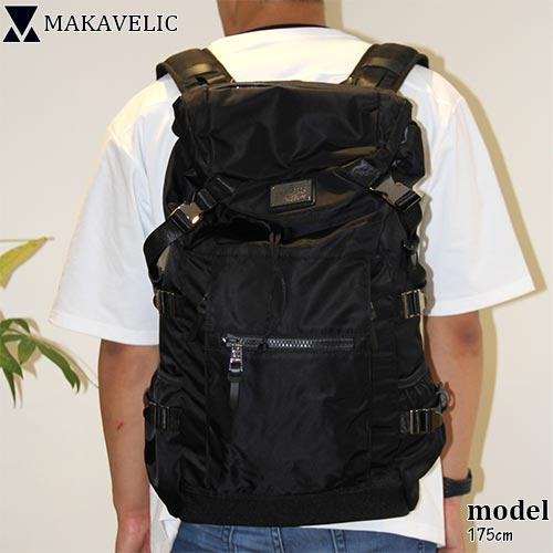 マキャベリック MAKAVELIC メンズ レディース バックパック ブラック SUPERIORITY FUERTE BACKPACK 3107-10121
