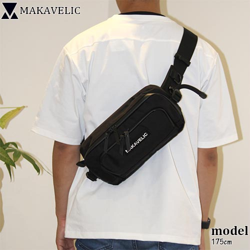 マキャベリック MAKAVELIC メンズ レディース ウエストバッグ ブラック DA MOVE WAISTBAG 3107-10302