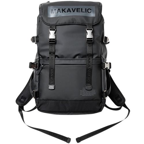 マキャベリック MAKAVELIC メンズ レディース デイパック ブラック BOX-LOGO COVERD BACKPACK 3108-10114