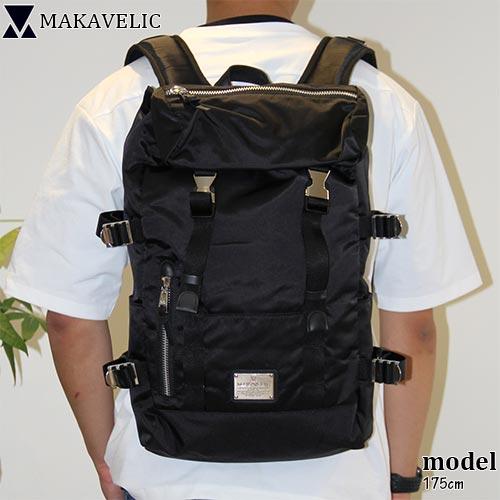 マキャベリック MAKAVELIC メンズ レディース リュック DOUBLE BELT DAYPACK GENERAL ブラック 3108-10120