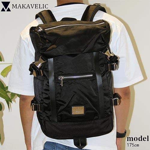 マキャベリック MAKAVELIC メンズ レディース リュック DOUBLE LINE BACKPACK GENERAL ブラック 3108-10122