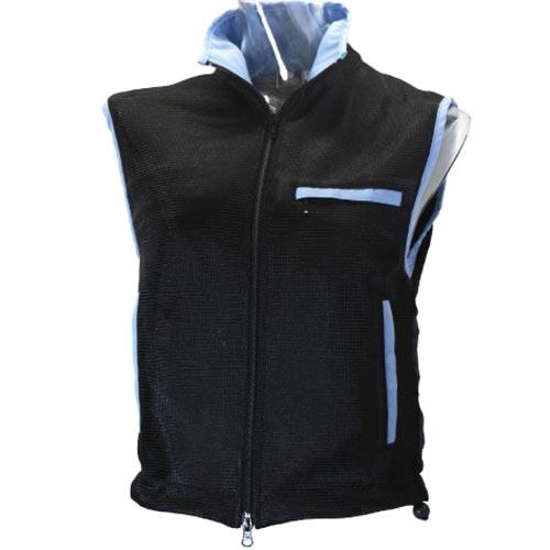 カラパーチェ 乗馬用 ユニセックスウェア メッシュ プロテクター ブラック/ライトブルー XSサイズ 41978