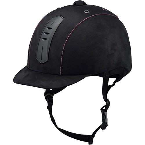 乗馬用 ライディングキャップ ウェンブレープラス ブラック/ピンク Lサイズ 40919