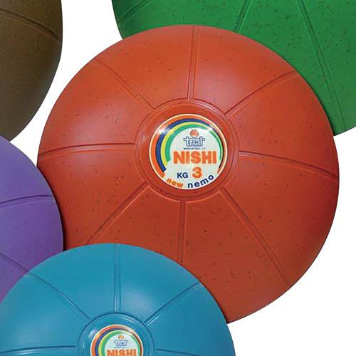 ニシスポーツ NISHI ネモメディシンボール ゴム製 3kg NT5883C