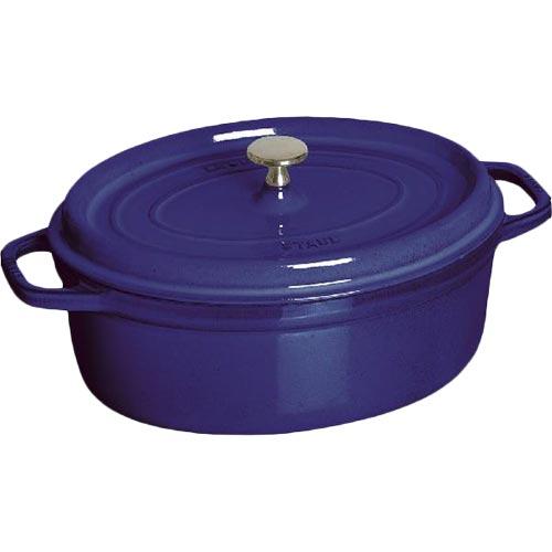 ストウブ ピコ・ココット オーバル 27cm ブルー 4330-030316
