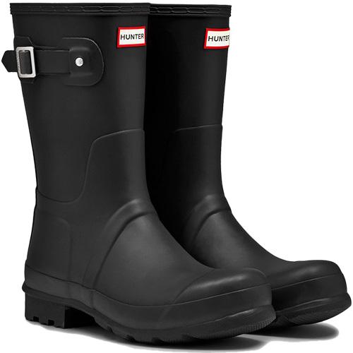ハンター HUNTER メンズ オリジナル ショート ブーツ ブラック MFS9000RMA