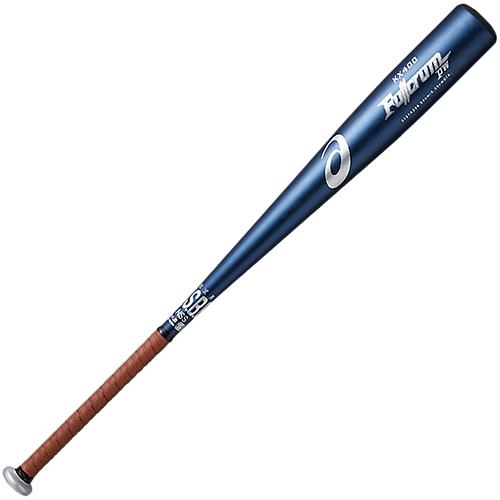 アシックス asics 軟式野球 金属バット FULLCRUM PW フルクラムPW ネイビー S84 3121A236 400
