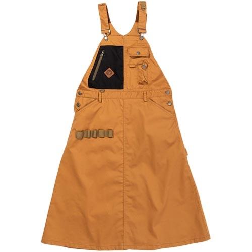 秋冬モデル テレビで話題 アウトドアウェア ギフト ジャンパースカート キャンプ BBQ ジーアールエヌ アウトドア grn キャンパー ジャンスカ CAMPER キャメル GO1302Q HIASOBI ヒアソビ outdoor