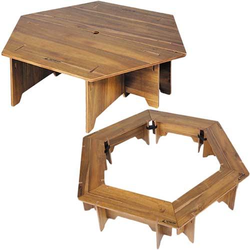 キャプテンスタッグ CAPTAINSTAG CSクラシックス ヘキサグリルテーブルセット 137 UP-1038 & ヘキサセンターテーブル 96 UP-1040