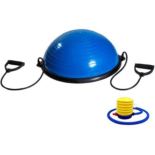 【特殊送料】ボディメーカー BODYMAKER 半円型フィットネスボール チューブ付き ブルー TG093