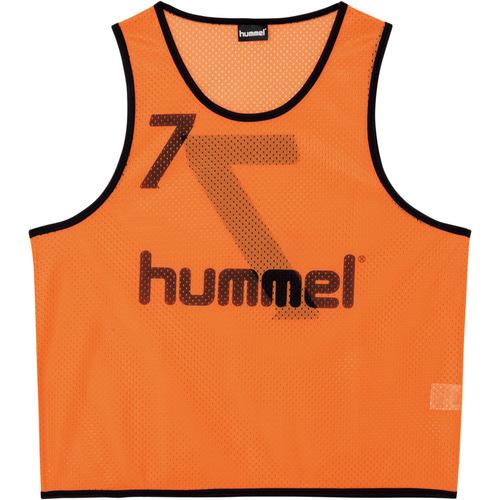 ヒュンメル hummel トレーニングビブス オレンジ L-Oサイズ HAK6006Z
