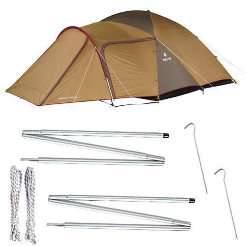 スノーピーク snowpeak テント アメニティドーム Lサイズ SDE-003RH & アップライトポールセット TP-090
