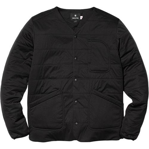 スノーピーク snowpeak メンズ フレキシブルインサレーションカーディガン Flexible Insulated Cardigan Black/ブラック SW-18AU010