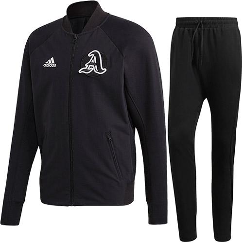 アディダス adidas メンズ バーシティジャケット & バーシティパンツ 上下セット ブラック/ブラック FWT37 FQ7616/FWS69 FI4682