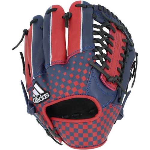 アディダス adidas メンズ 野球 軟式 カラーグラブ テックインディゴ/スカーレット/ブラック GLJ62 FK1498