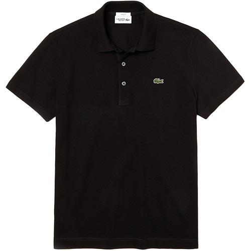 ラコステ LACOSTE メンズ スリムフィットソリッドポロ 半袖 ブラック PH7937L 031