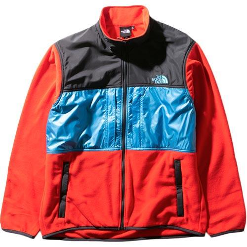 ノースフェイス THE NORTH FACE メンズ ブライトサイドフリースジャケット Bright Side Fleece Jacket ファイヤリーレッド×メリディアンブルー NL22031 FR