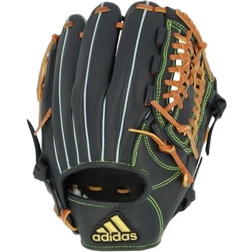 アディダス adidas 野球 軟式グラブ オールラウンド 右投用 ブラック/ゴールドメタリック INT82 FR3642