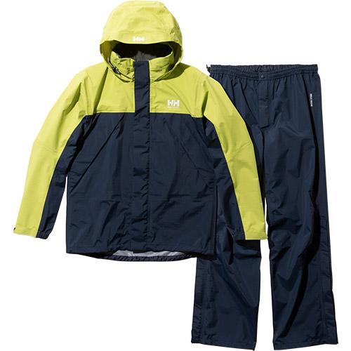 ヘリーハンセン HELLY HANSEN メンズ ヘリーレインスーツ Helly Rain Suit イエローグリーン×ヘリーブルー HOE12000 YH