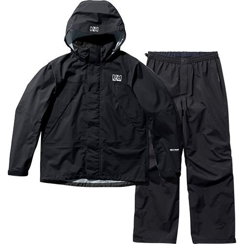 ヘリーハンセン HELLY HANSEN レディース ヘリーレインスーツ Helly Rain Suit ブラックオーシャン HOE12000 KO