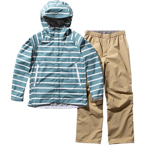 ヘリーハンセン HELLY HANSEN レディース ボーダーヘリーレインスーツ Border Helly Rain Suit マツバ HOE12001 MU