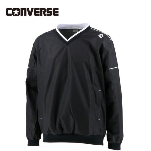 バスケ 期間限定特価品 練習着 トレーニングウェア ジャージ コンバース Vネックウォームアップジャケット ブラック 完全送料無料 CB162510S メンズ CONVERSE