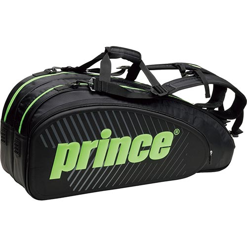 プリンス Prince ラケットバッグ6本入 TT702 BLK/GRN